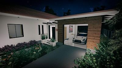 Perspectiva garaj / intrare