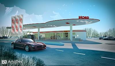 Perspectiva 3d benzinarie