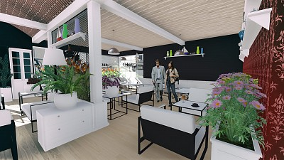 arhitectura cafenea