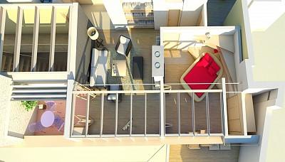 Apartament 2: Living + Dormitor + Terasa