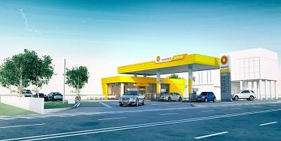 arhitectura statie carburanti