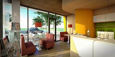 cafenea - interior - exterior